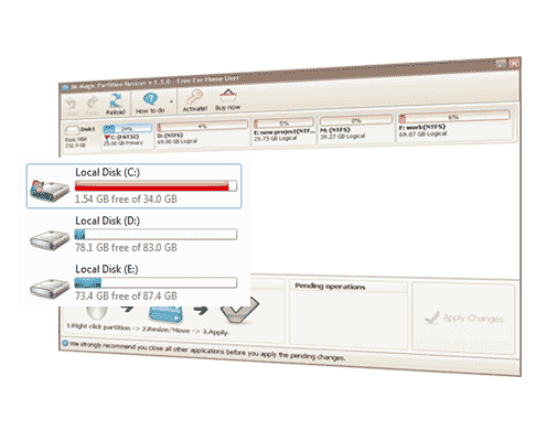 IM-Magic Partition Resizer Pro 3