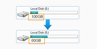 shrink partition to make free space
